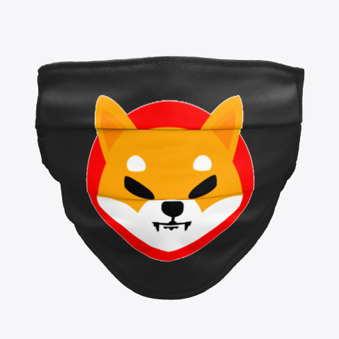 Shiba Face Mask Black T-Shirt Front