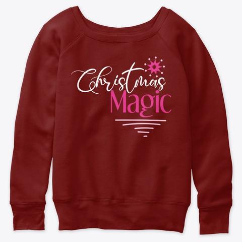 Christmas Magic Dark Red Triblend T-Shirt Front
