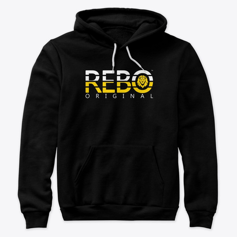 Rebo Ii (Tri Back) Premium Hoodie Black T-Shirt Front