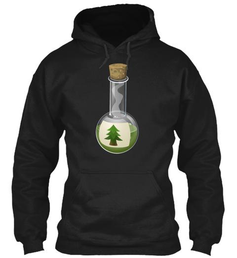 Alchemy Potion Tree Poison Antidote Black T-Shirt Front