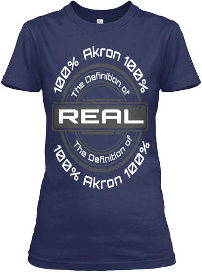 Real Ladies Of Akron Navy T-Shirt Front