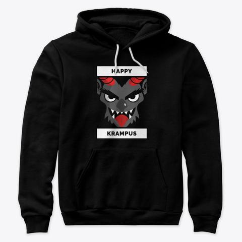 Happy Krampus   Campaign Black T-Shirt Front