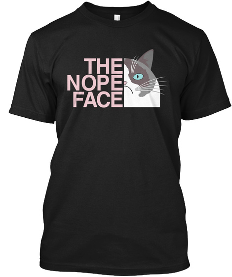 The Nope Face Black T-Shirt Front