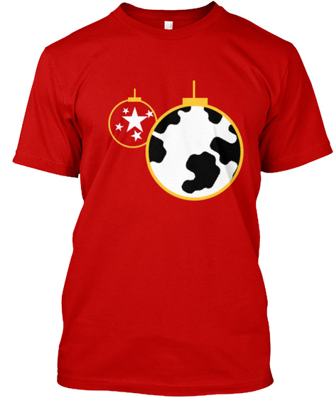 All Things Earth Ornament Merch!  Classic Red T-Shirt Front