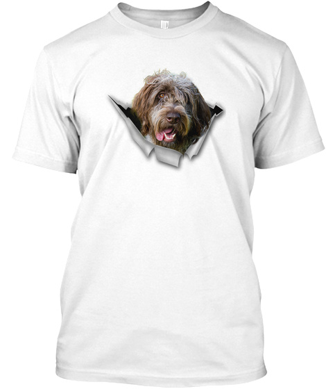 Wirehaired Pointing Griffon   Cc White T-Shirt Front