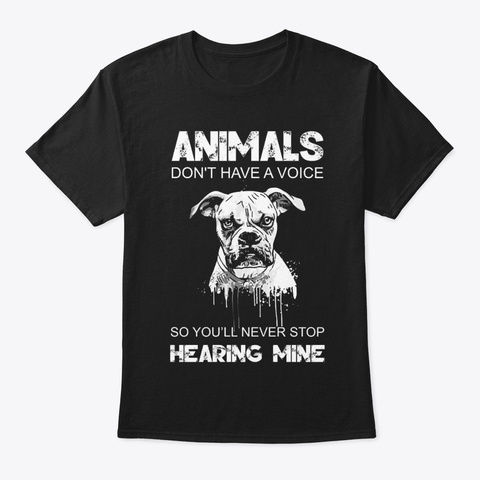 Stop Animal Cruelty T31 Black T-Shirt Front