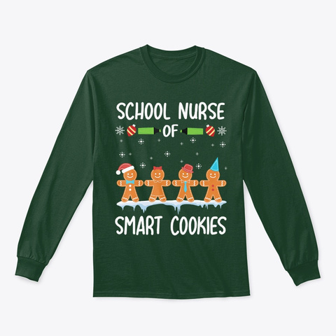 Cookies Gingerbreads Merry Christmas Forest Green T-Shirt Front