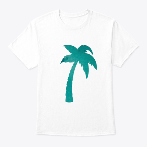 Palm Tree   Summer Collection White T-Shirt Front