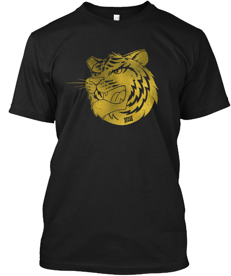 Mr Williamo Gold Tiger Black T-Shirt Front