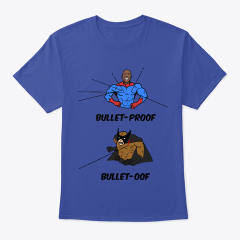 Bullet Oof Deep Royal T-Shirt Front