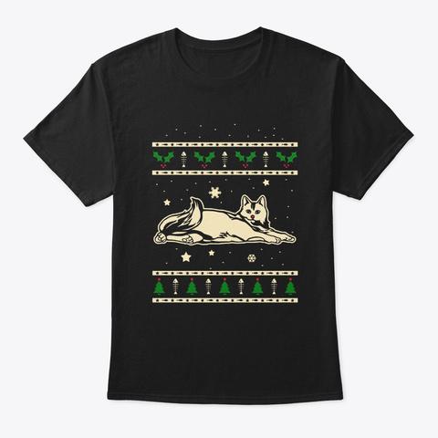 Christmas Calico Gift Black T-Shirt Front