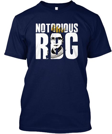 Rbg Ruth Bader Ginsburg Feminist Shirt Navy T-Shirt Front