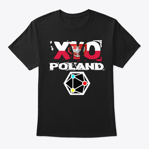 Xyo Poland Design Black T-Shirt Front