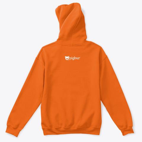 Pigbur Kids | Hoodie Orange T-Shirt Back