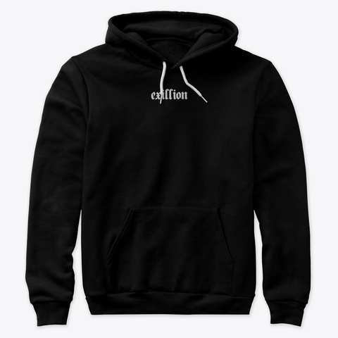 """Exillion"" Season 1 Black T-Shirt Front"