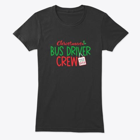 Christmas School Bus Driver, Schoolbus Vintage Black T-Shirt Front