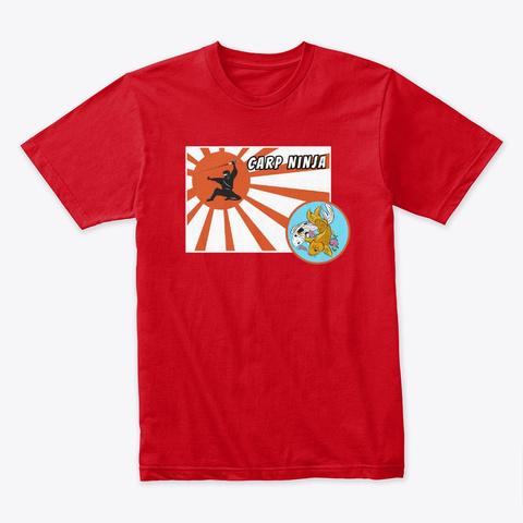Carp Ninja Red T-Shirt Front