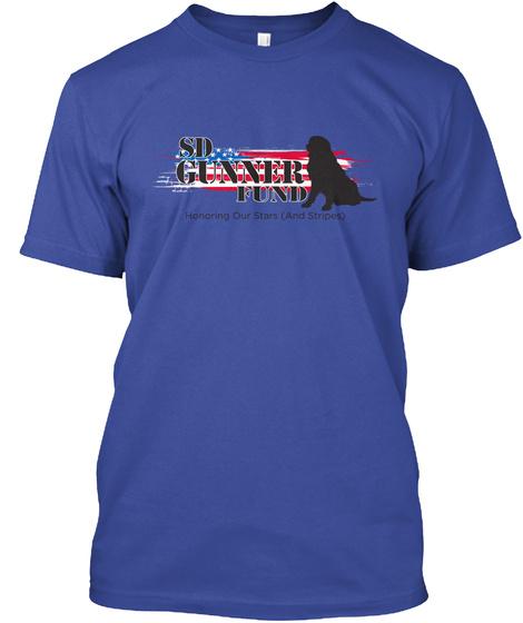 Sd Gunner Fund Deep Royal T-Shirt Front