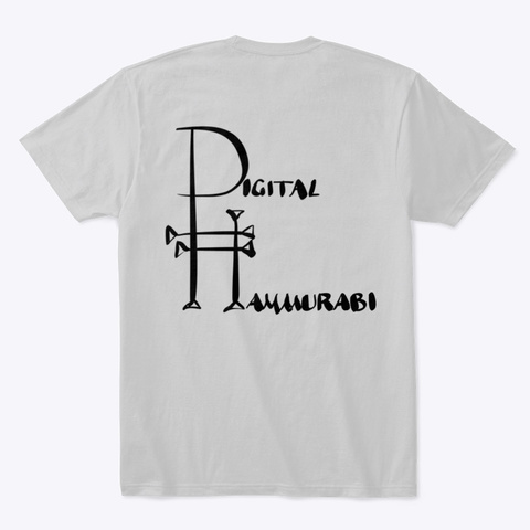 Ashurbanipal, King Of The World Light Heather Grey  T-Shirt Back