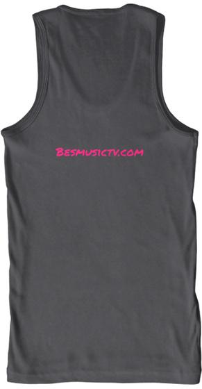 Besmusictv.Com Charcoal T-Shirt Back