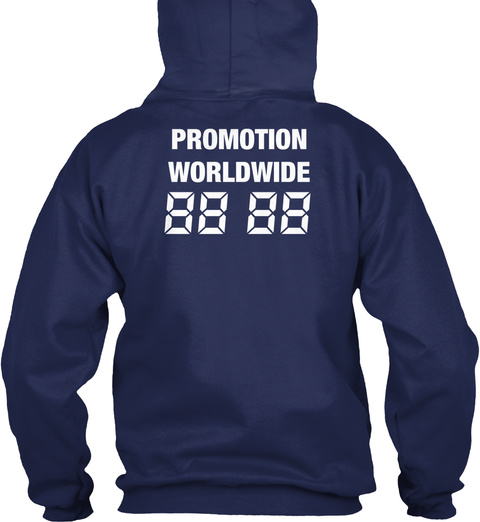 Promotion Worldwide 88  88 Navy Sweatshirt Back