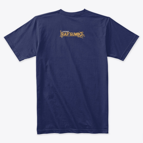 Let's Eat Midnight Navy T-Shirt Back