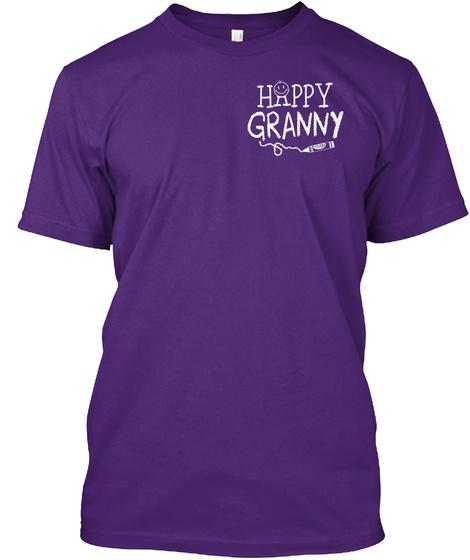 Happy Granny Purple T-Shirt Front