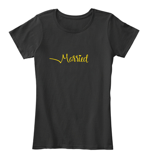 Married For The Bride Black T-Shirt Front