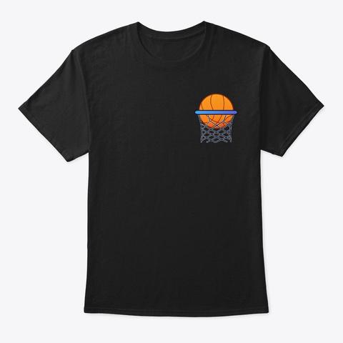 Basketball Hoop Score Side Black T-Shirt Front