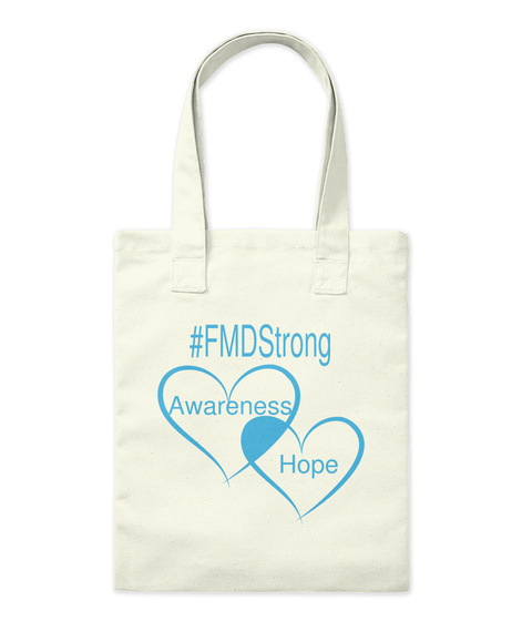 #Fmdstrong Awareness Hope Natural Tote Bag Front