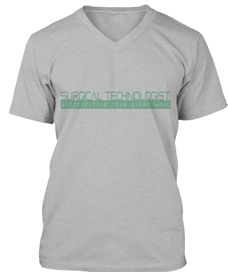 Surgical Technologist Athletic Heather T-Shirt Front