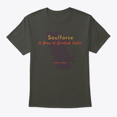 Soulforce 20th Anniversary  Apparel Smoke Gray T-Shirt Front
