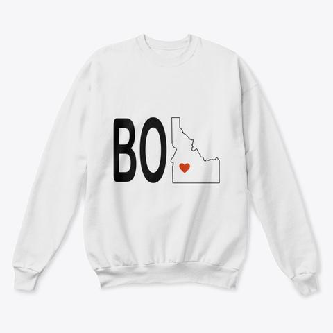 Boi  Crew Neck  White  T-Shirt Front