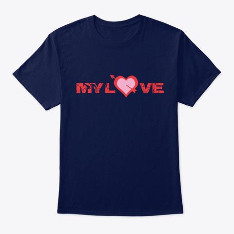 Katakan Cinta Navy T-Shirt Front