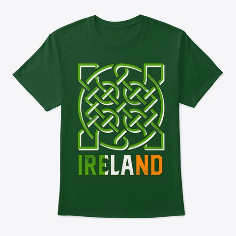 Irish Trinity Celtic Knot Saint Patrick Deep Forest T-Shirt Front