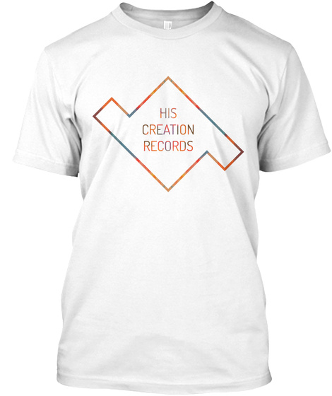 His Creation Records Logo T Shirt White T-Shirt Front