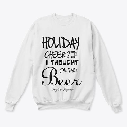 Holiday Cheer #Boozebrosliquormart White  T-Shirt Front
