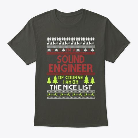 Ugly Christmas Gift Sound Engineer Tee Smoke Gray T-Shirt Front