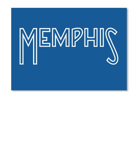 Memphis Sticker Dk Royal T-Shirt Front