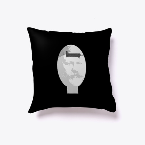 Freud Head Couch Ready For You Black T-Shirt Front