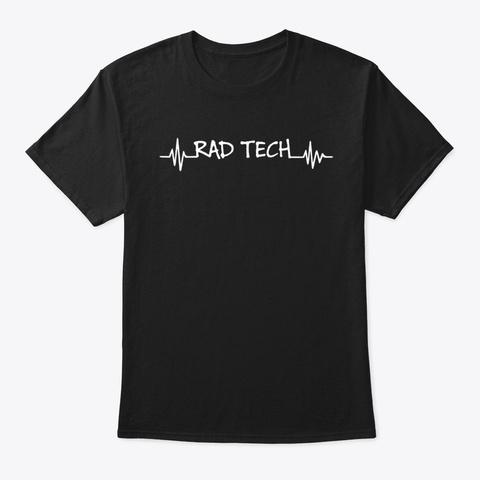 Rad Tech Heartbeat  Black T-Shirt Front