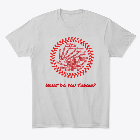 Pitch Types Baseball Tee   Wdyt??? Light Heather Grey  T-Shirt Front
