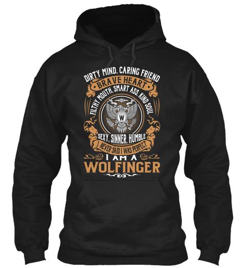 Wolfinger Black T-Shirt Front