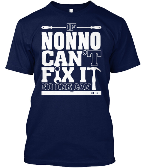 If Nonno Can't Fix It No One Can Navy T-Shirt Front