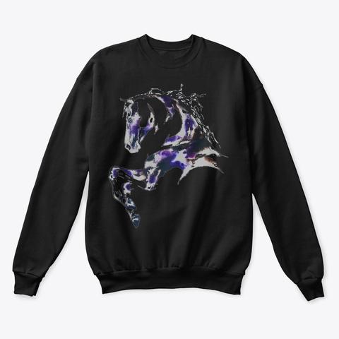 Horse Drawing Art Black T-Shirt Front