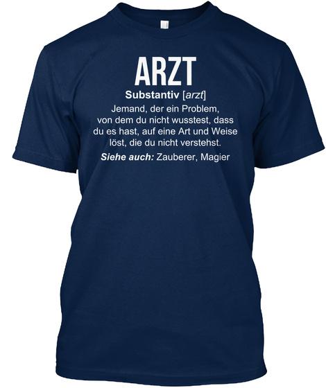 Arzt Substantiv Navy T-Shirt Front