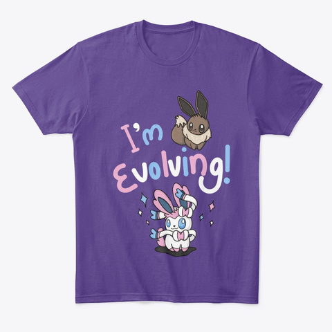 Evolving Purple T-Shirt Front