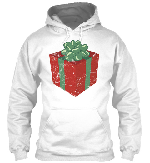 Vintage Christmas Present And Holiday Gi White T-Shirt Front