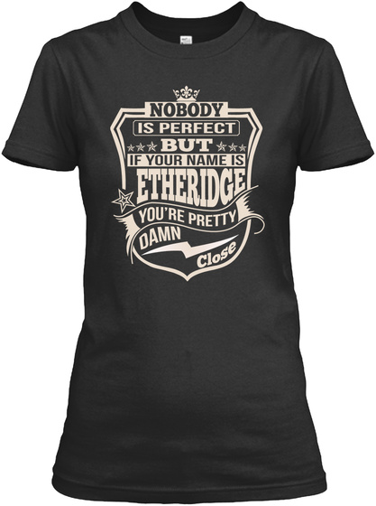 Nobody Perfect Etheridge Thing Shirts Black T-Shirt Front