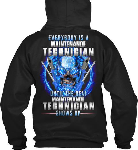 Technician Black T-Shirt Back